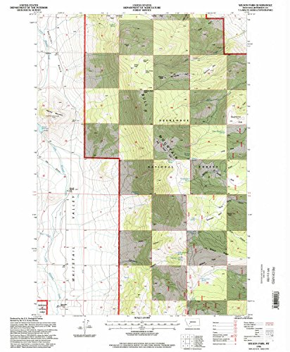 Wilson Park MT topo map, 1:24000 Scale, 7.5 X 7.5 Minute, Historical, 1996, Updated 1998, 26.7 x 22 in - Paper