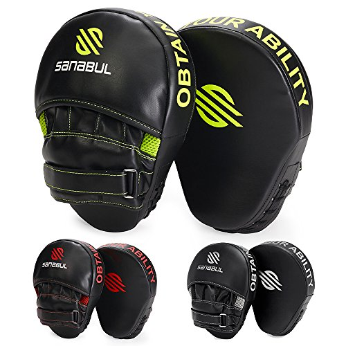 Sanabul Essential Boxing MMA Punching Mitts (Mma Striking Training Gloves)