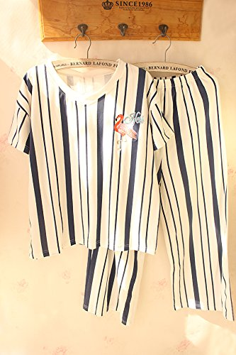 Ladies' Fenicotteri Pigiami Pantalone Home Cotone Raccordo Allentato Flamingo LIYAJUAN Suit AqwHIdA