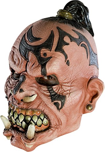 Rubie's Adult Monster Orc Headhunter 3/4 Vinyl Costume Mask]()