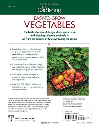 Fine Gardening Easy-to-Grow Vegetables Tomatoes Greens Peppers /& More