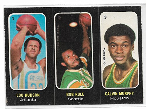 Trio Rule - 1971-72 Topps ABA Trios Basketball Lou Hudson-Bob Rule-Calvin Murphy Card # 1-2-3 Ex-Mint