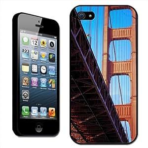 Fancy A Snuggle - Carcasa para iPhone 5, diseño de puente Golden Gate de San Francisco