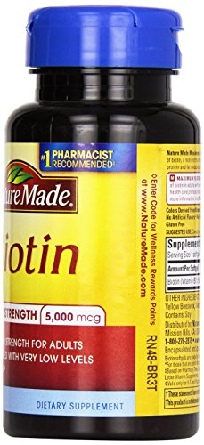 Nature Made Maximum Strength Biotin Value Size Liquid Softgel, 5000 mcg, 120 Count
