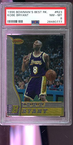 1996-97 Bowman's Best #R23 Kobe Bryant ROOKIE RC PSA 8 Graded Card Bowmans