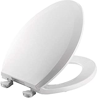 product image for BEMIS 1100EC 000 Toilet Seat with Easy Clean & Change Hinges, ELONGATED, Plastic, White