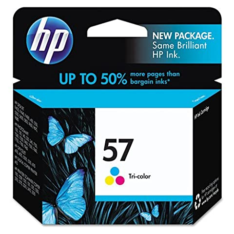 HP No. 57 Tri-Color Ink Cartridge Twin Pack (C6657AN) (57 Hp Ink Cartridge)