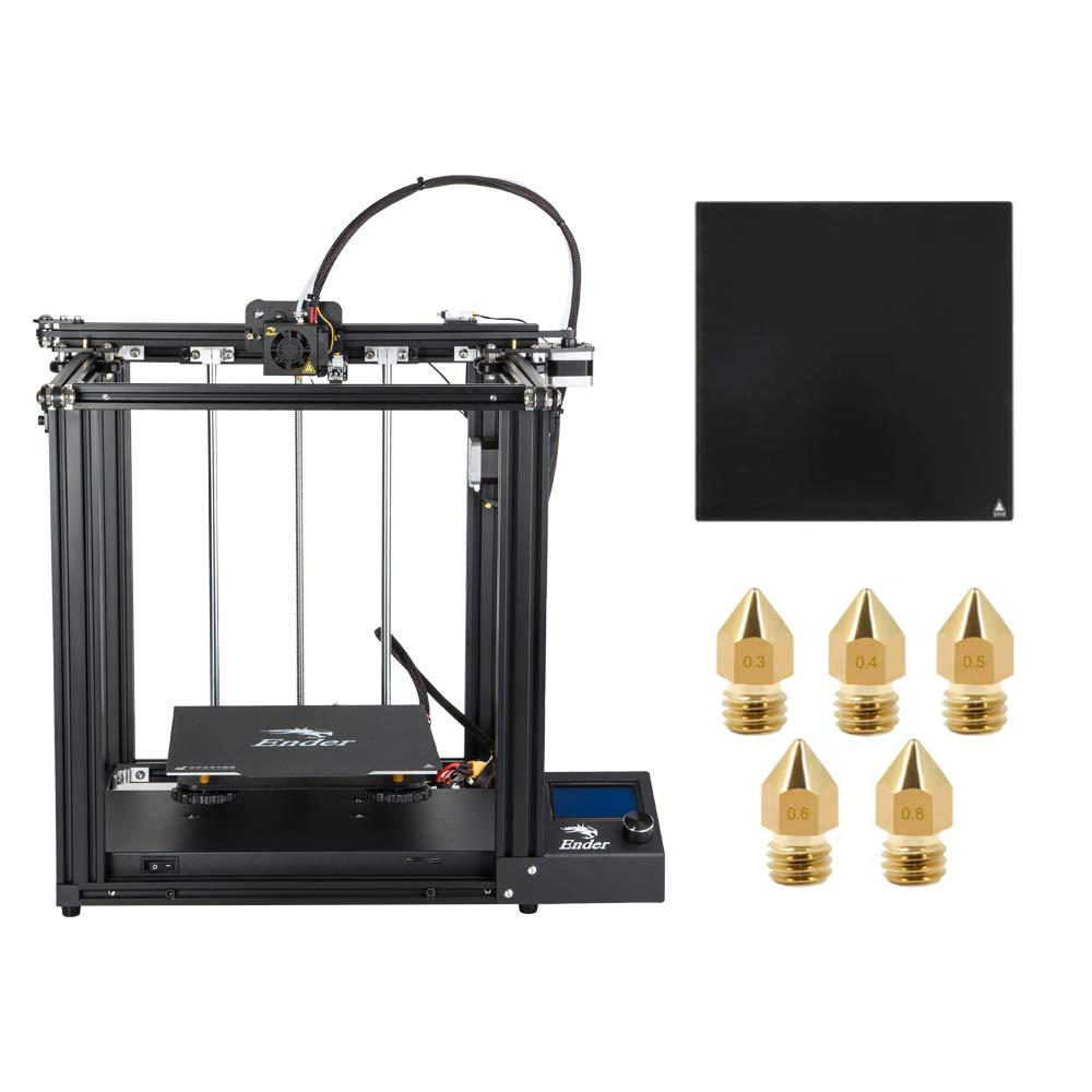 Official Creality Ender 5 3D Printer with Glass Bed and Five Nozzles 2019 New Version