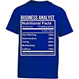 Business Analyst Nutritional Facts Funny Gift - Girl Kids T-Shirt Kids S Royal