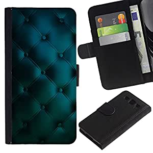 KingStore / Leather Etui en cuir / Samsung Galaxy S3 III I9300 / Cuero del patrón azul vibrante Diamond