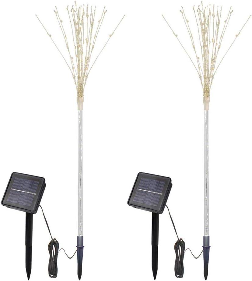 ToDIDAF100-LED luz solar DIY forma de árbol de fuegos artificiales ...
