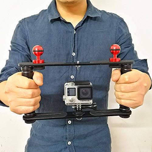 Dual Handle Arm Stabilizer l Dive Tray Rig Mount l for Gopro Action Cameras, Camera Waterproof Housing, Dome and More, Perfect for Underwater Photo & Diving Video Lighting
