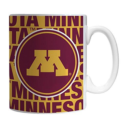 Boelter Brands NCAA Minnesota Golden Gophers Sculpted Bold Mug, 11-ounce by Boelter Brands