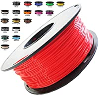 Melca 1.75 3D Printer Filament PLA 1kg +/- 0.03mm, Red/Orange (#CC0605) from Melca