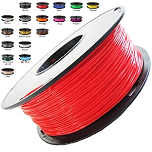 Melca 1.75 3D Printer Filament PLA 1kg +/- 0.03mm, Red/Orange (#CC0605) from Melca