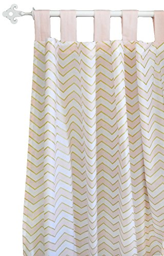 New Arrivals Curtain Panels, Gold Rush in Pink, 2 Count by New Arrivals
