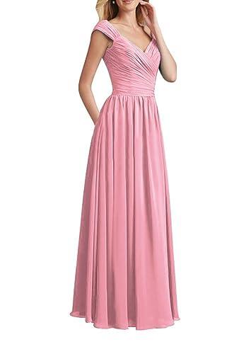 Huafeiwude Women's Long Bridesmaid Dreses Maxi Prom Dresses