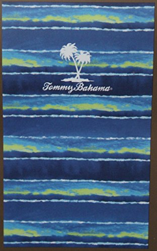 (Tommy Bahama Blue/Green Striped Beach Towel - 40