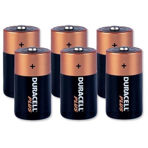 Duracell Plus Battery Alkaline 1.5V D Ref Mn1300P6/81275354 [Pack 6]