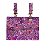 Demi-Premier Purple Grandeur - Gorgeous Purples Highlighted by Attractive Braid - A 13'' x 10'' Bag For Multiple Mobility Devices
