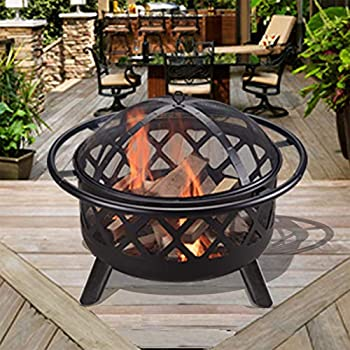 Amazon.com : BCP Hex Shaped Fire Pit Outdoor Home Garden ... on Zeny 24 Inch Outdoor Hex Shaped Patio Fire Pit Home Garden Backyard Firepit Bowl Fireplace id=52801
