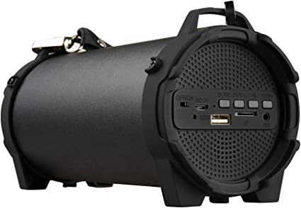 Wireless Bluetooth FM Radio TF Speaker Outdoor Soundbox 10W AUX Stereo Bass Mic