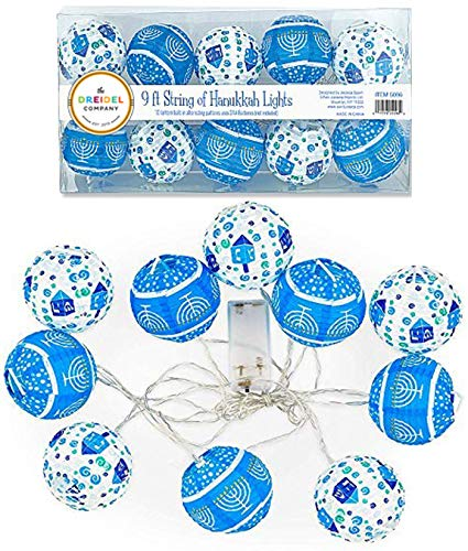 10 Hanukkah LED Battery Powered 3