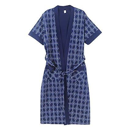 HUAIX Home Batas de Verano, Pijamas, algodón de Manga Corta, Kimono japonés y