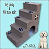 Navarce Dog steps. Doggy stairs.Pet furniture, Dogs furniture. 30 inches tall wooden dog steps, pet stairs For Sale