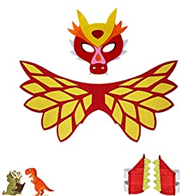 - 519mz OSuwL - Flying Childhood Toddler Kids Dragon Wings Costume Mask and Bracelets for Boys Girls Dinosaur Dress Up Party Gifts