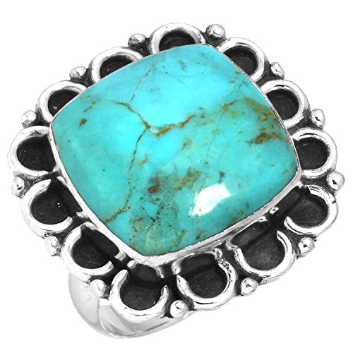 Natural Kingman Turquoise Ring Solid 925 Sterling Silver Collectible Jewelry Size 6