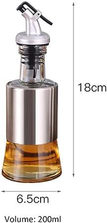 Bottigla Olio, Botella de cocina Aceite de Oliva Vinagre Vinagrera dispensador Contenedor de aceite anti-goteo de doble pared de la botella de aceite de cocción Dispensering Dishwash Segura,200ml: Amazon.es: Deportes y aire