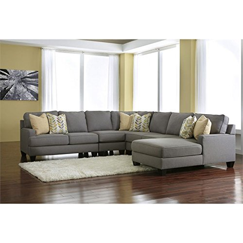 Ashley furniture sectional couches Fluffy Ashley Furniture Signature Design Chamberly Piece Sectional Sofa In Alloy Amazoncom Amazoncom Ashley Furniture Signature Design Chamberly Piece