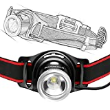 Super Cool Zoomable Rechargeable Headlamp, 550 Lumens White Cree LED Head lamp