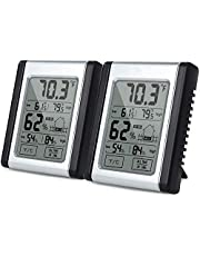TOOGOO Digital Humidity Monitor Indoor Thermometer, Hygrometer and Humidity Gauge Indicator with Touchscreen, ℃/℉ Switch, Min/Max Records, for Home, Office, Car,Greenhouse, Babyroom