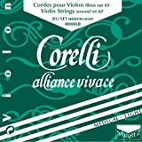 Corelli Strings For Violin Alliance Set (with ball end); Medium