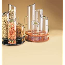 """Cal-Mil 723 Turntable Cereal Dispensers, 12"""" Length x 12"""" Width x 20"""" Height, Clear"""