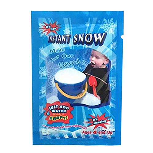 lotus.flower Instant Snow Powder for Slime - Premium Fake Snow for Slime Supplies - Non-Toxic and Safe - Mix Makes 5 Pcs Artificial Snow for Cloud Slime and Snow Decorations (White)