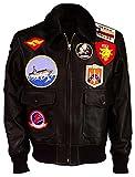 Top Gun Maverick Pilot Aviator Tom Cruise Fur Collar Brown Bomber Leather Jacket