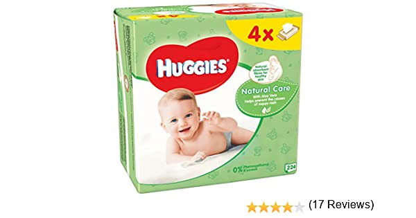 Huggies Natural Care Toallitas para Bebé - Paquetes de 4 x 56 Unidades - Total: 224 Unidades: Amazon.es: Amazon Pantry
