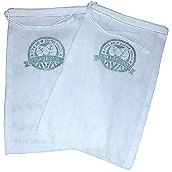 """Two One-Gallon Cold Brew Coffee Filter Pouches (2-pack) and 3 Free Recipe Books - """"Cooking with Cold Brew Coffee"""" downloadable eBooks"""