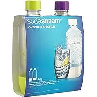 SodaStream 1 Litre PET Twin Pack Summer Carbonating Bottles Carbonating Bottles, Multicolored, 1042270610