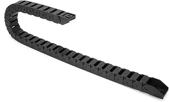 Black-R28, 15X20 LUOYIMAO R28 15mm x 20mm?Inner Hinner W?Black Plastic Cable Wire Carrier Drag Chain 1M Length for CNC