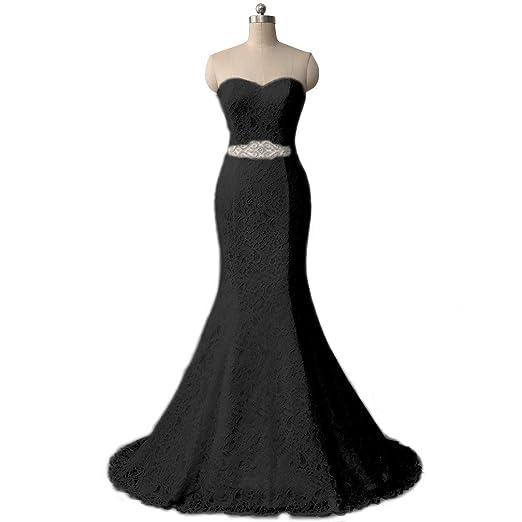 Vestido de novia de Encaje de Las Mujeres Vestido de Noche de la Sirena Marco Ailin Home (Color : Blanco, Tamaño : 20): Amazon.es: Hogar