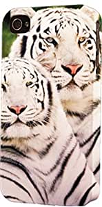 White Tiger Pair Dimensional Case Fits iPhone 5c