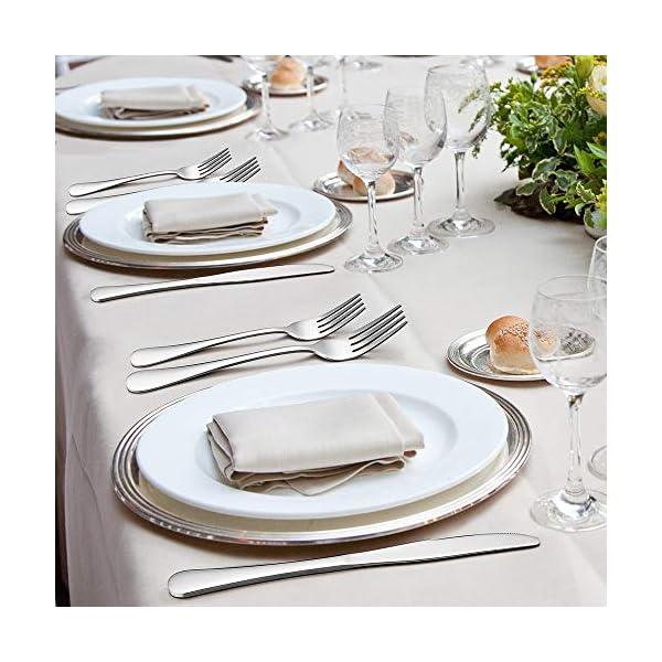 Silverware Set, 40-Piece Flatware Set, E-far Stainless Steel Eating Utensils Service for 8, Dinner Knives/Forks/Spoons… 6