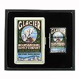 Cigarette Case Oil Lighter Gift Set Vintage Poster D-008 Glacier National Park, Montana - Mountain Goat Vintage Sign