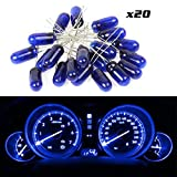 2004 nissan maxima interior parts - CCIYU 20 pack Blue Mini LED Bulbs Instrument Light Interior Light Bulbs Incandescent Light