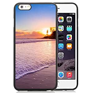 Fashionable Custom Designed iPhone 6 Plus 5.5 Inch Phone Case With Sunset At The Beach_Black Phone Case