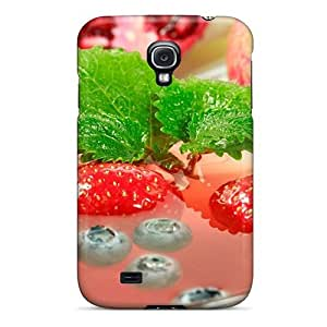 Waterdrop Snap-on Fruit Berry Drink Artistic Case For Galaxy S4 by runtopwell